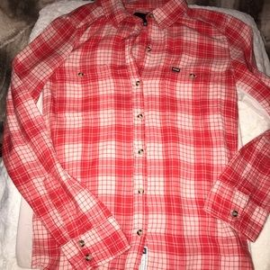 Hurley plaid button down